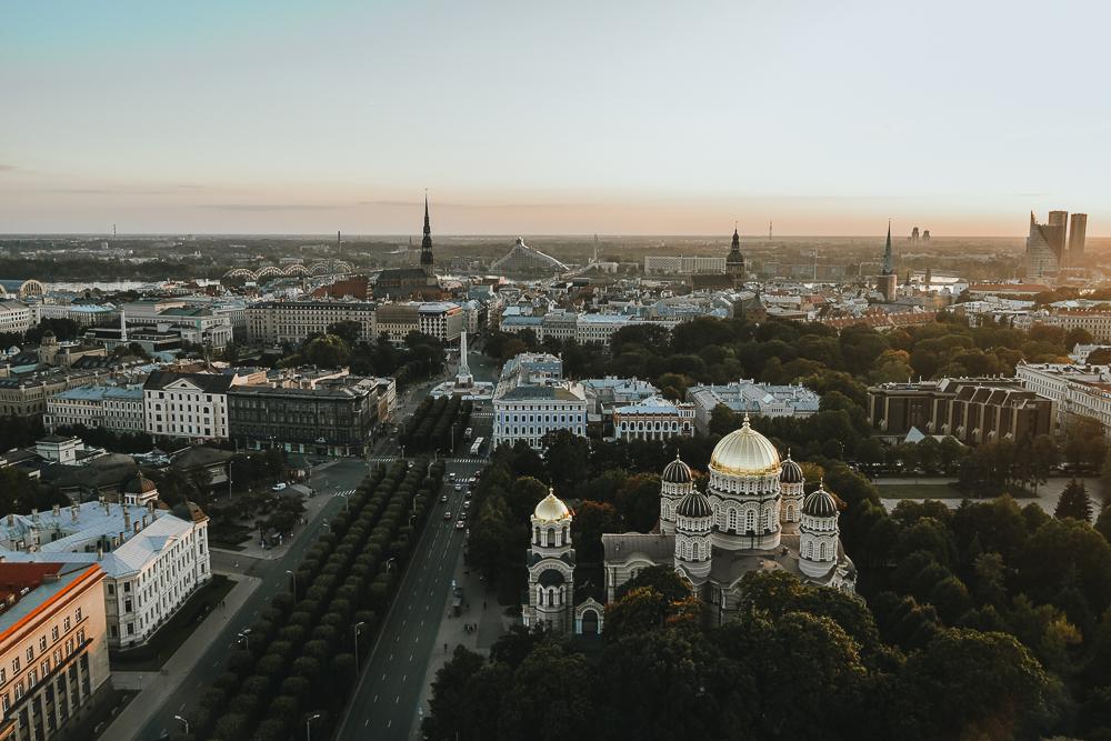 Riga Sonnenuntergang