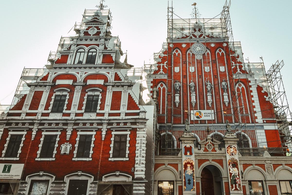 Lettland Riga Schwarzhäupterhaus